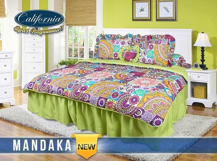 BEDCOVER SET CALIFORNIA MANDAKA No.1 KING 180 BCS MANDALA BED COVER Exclusive