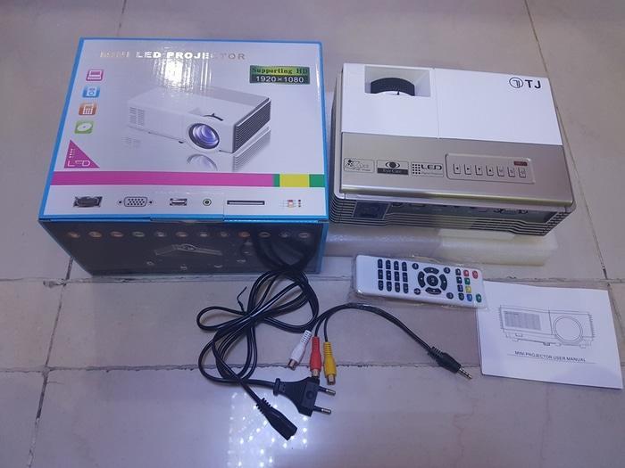 Mini Proyektor TJ600D 1500 Lumens 50.000 Jam + TV Tuner Build In / Proyektor Berkualitas / Proyekto