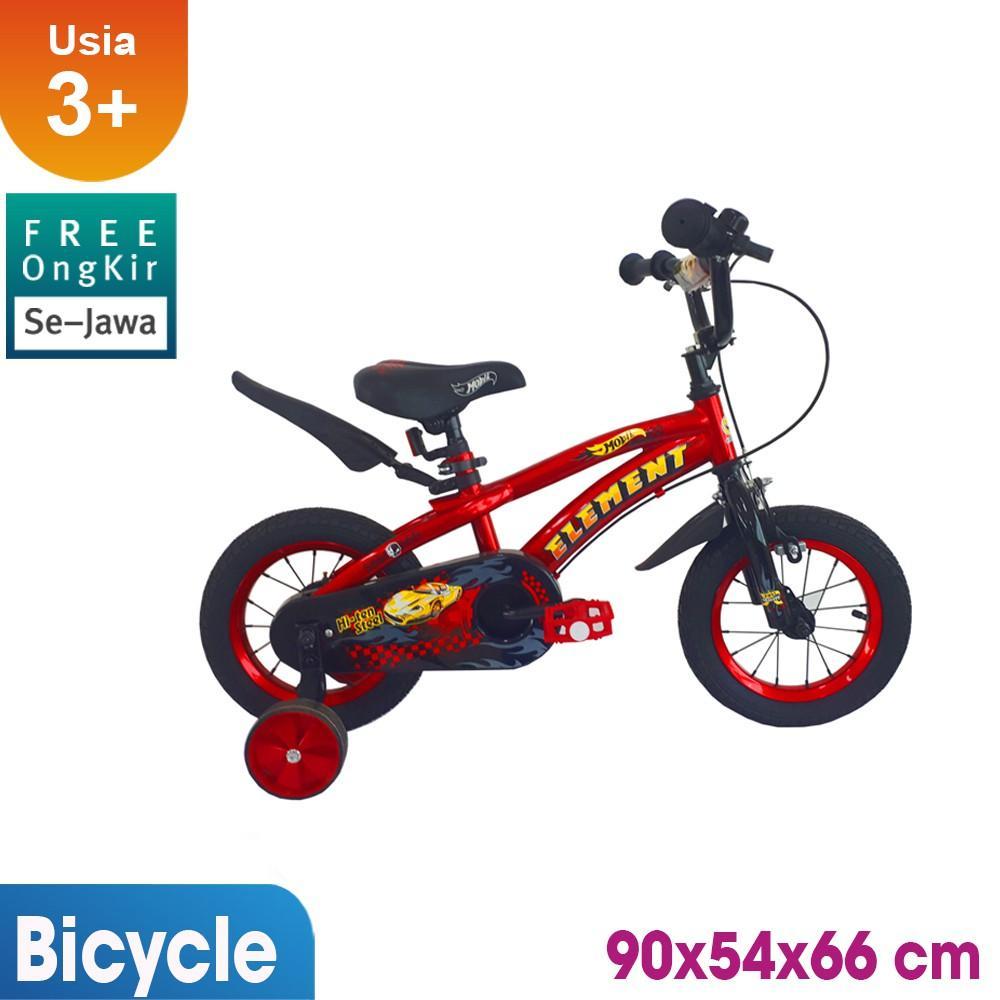 Sepeda Anak Element Mobil 12inch / mainan edukasi / mainan anak / Kado Ulang Tahun anak KLX