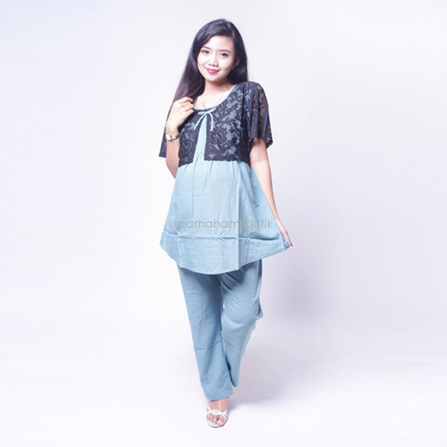 Ning Ayu Setelan Hamil Lengan Pendek Motif brokat cantik - STD 81 / Baju Hamil Muslim / Baju hamil Kerja / Baju Hamil dan Menyusui / Baju Hamil Lucu / Baju Hamil Panjang / Baju Hamil Modern / Baju Hamil Wanita / Baju Hamil Kerja Muslim