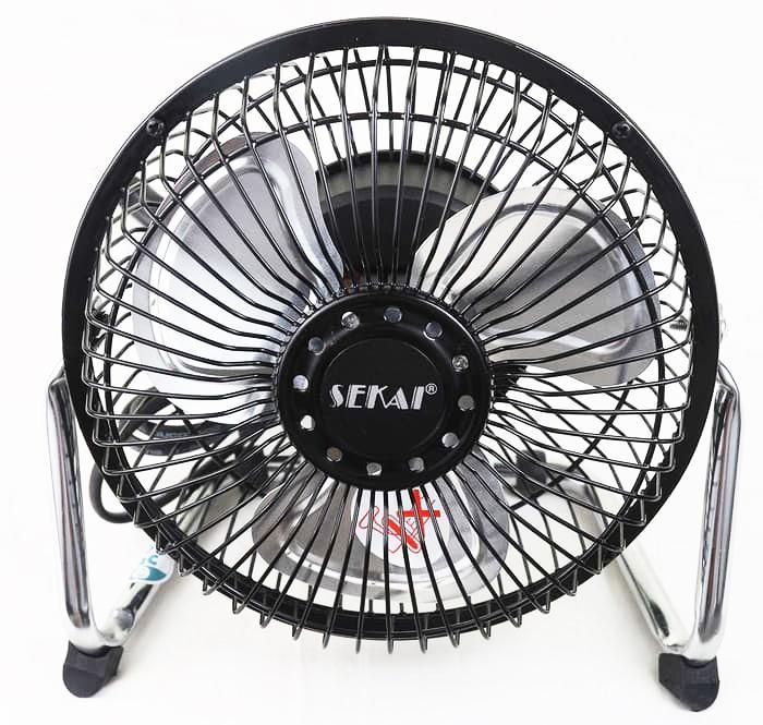 Kipas Angin Meja / Desk Fan SEKAI Besi Mini HFN 650