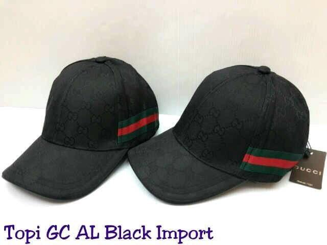 ASLI!!! Topi Gucci Al Ghazali Import Full Black
