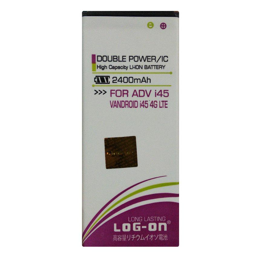 Log On Baterai Advan Vandroid i45 4G LTE - Double Power Battery - 2400 mAh