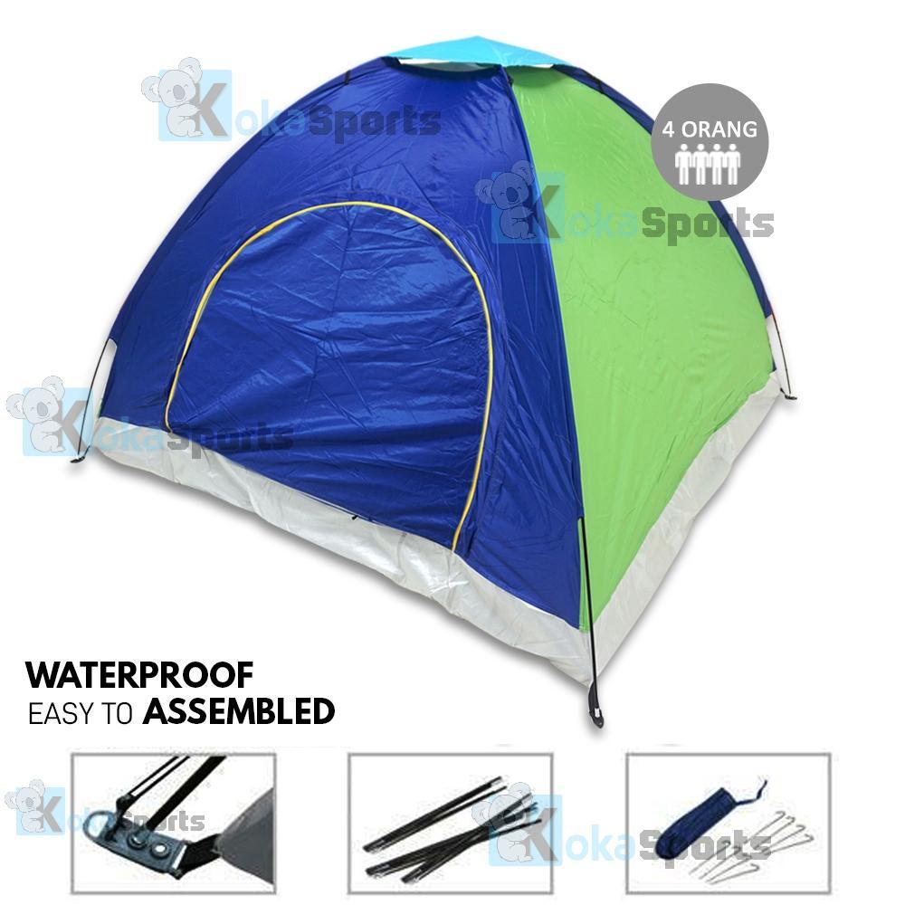Tenda Camping Berkemah Rumah Hellokitty Sedang Maxxio Colour Waterproof 4 Orang Warna Ukuran 200cm X Random