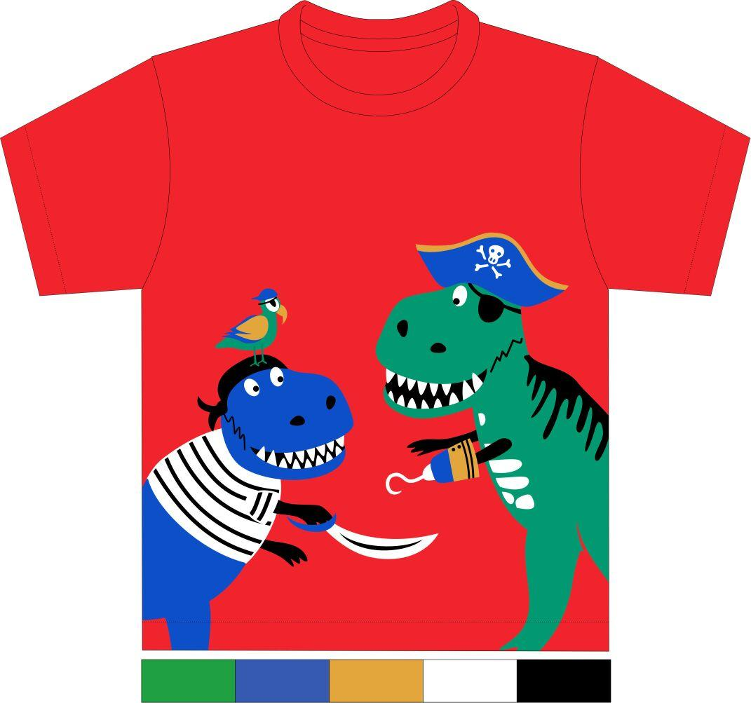 Kaos Anak Mommy's Honey - Dinosaurus Merah