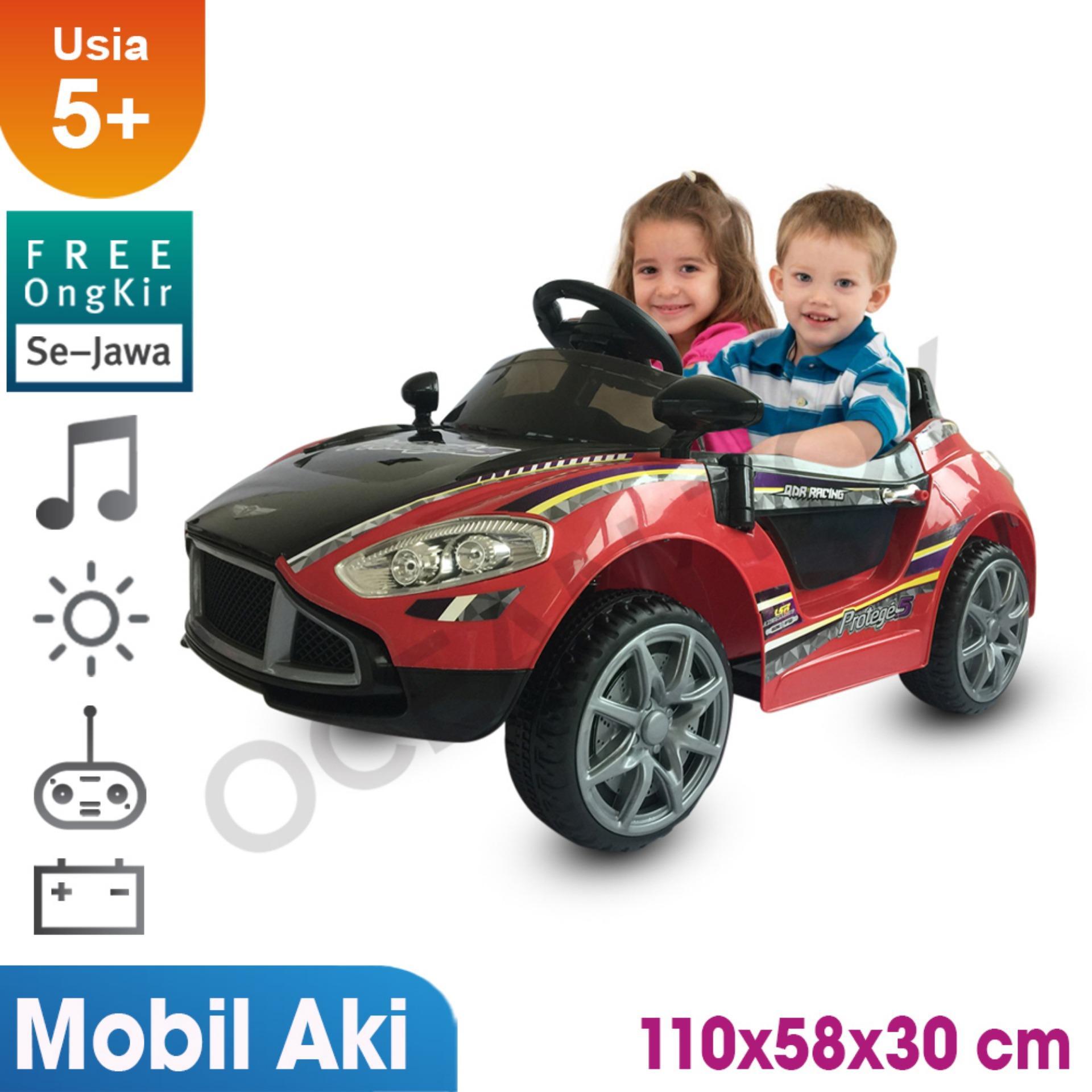100% Free Ongkir Khusus Pulau Jawa Ocean Toy Ride On PMB Mobil Aki Protege5 Mainan Anak M7688 - Merah Hitam