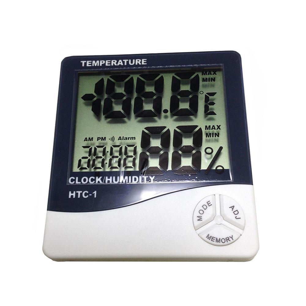 Jam Digital Termometer Alarm Multifungsi - Hitam