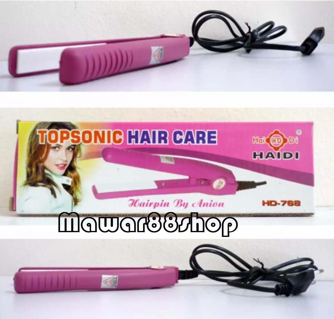 Haidi HD - 768 - Catokan Mini Pelurus Rambut / Haidi Catok Mini / Catok Haidi - Pink