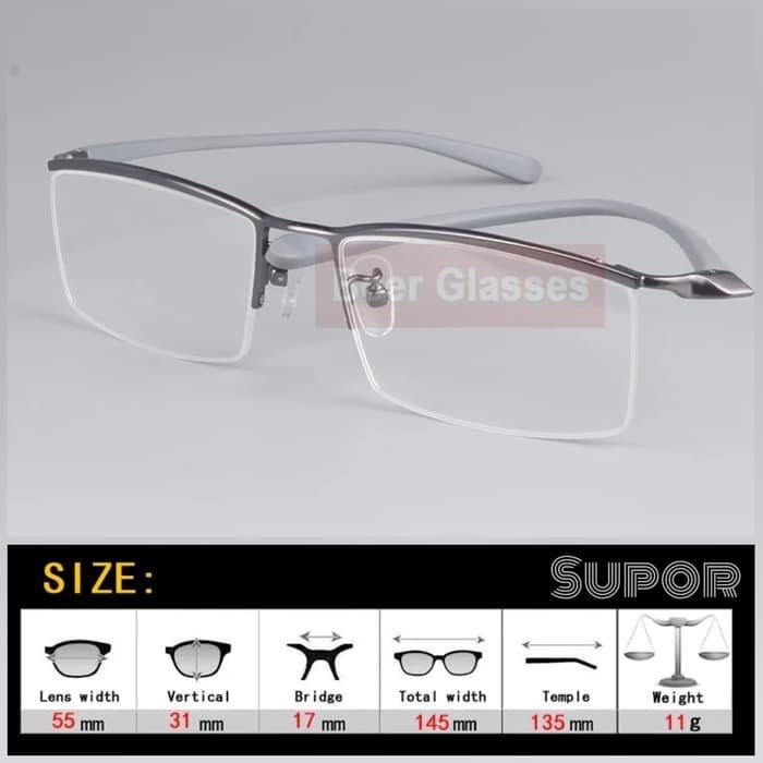 kacamata HF8 + Lensa Leinz Photochromic Cylinder Minus tinggi