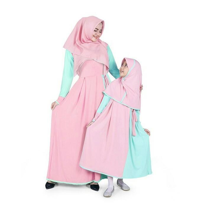BAJUYULI-Baju Muslim Couple ibu anak gamis