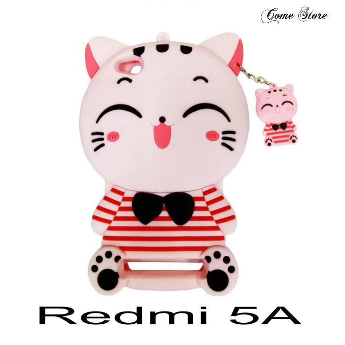 Silicon Kartun Karakter Kucing 4D Softcase Casing For XIAOMI Redmi 5A