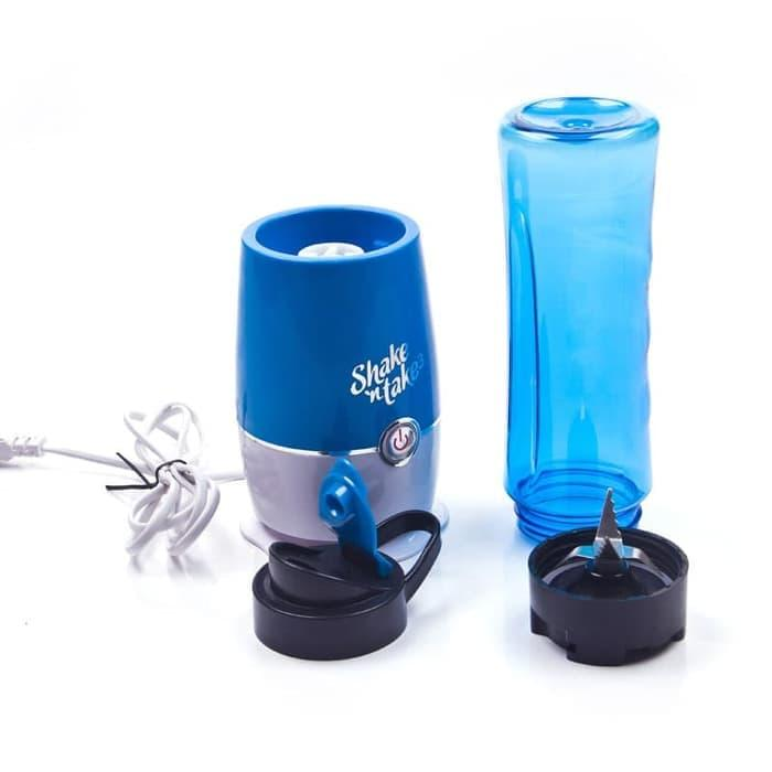 promo Blender Buah Dobule Cup Portable 2 in 1 500ml - Blue olx