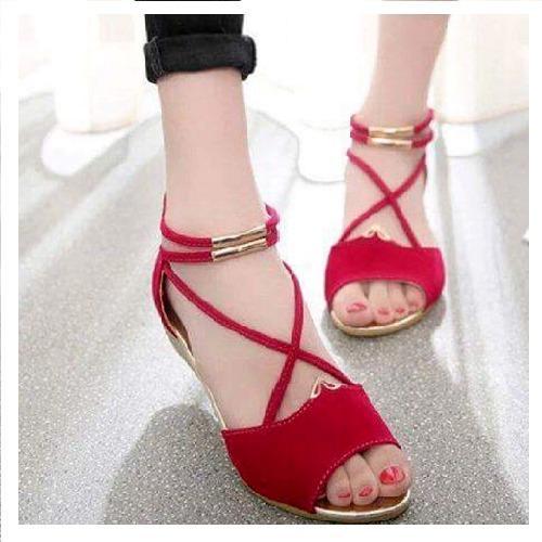 Sandal Wanita Tali Wedges SDL60