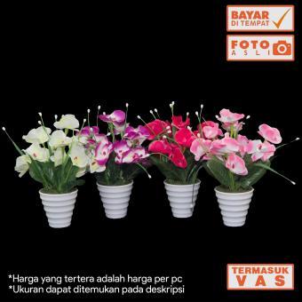 Harga preferensial Dekorasi Rumah - Buket Bunga Anggrek Artificial vas  Melamin Murah terbaik murah - Hanya c6c6504966