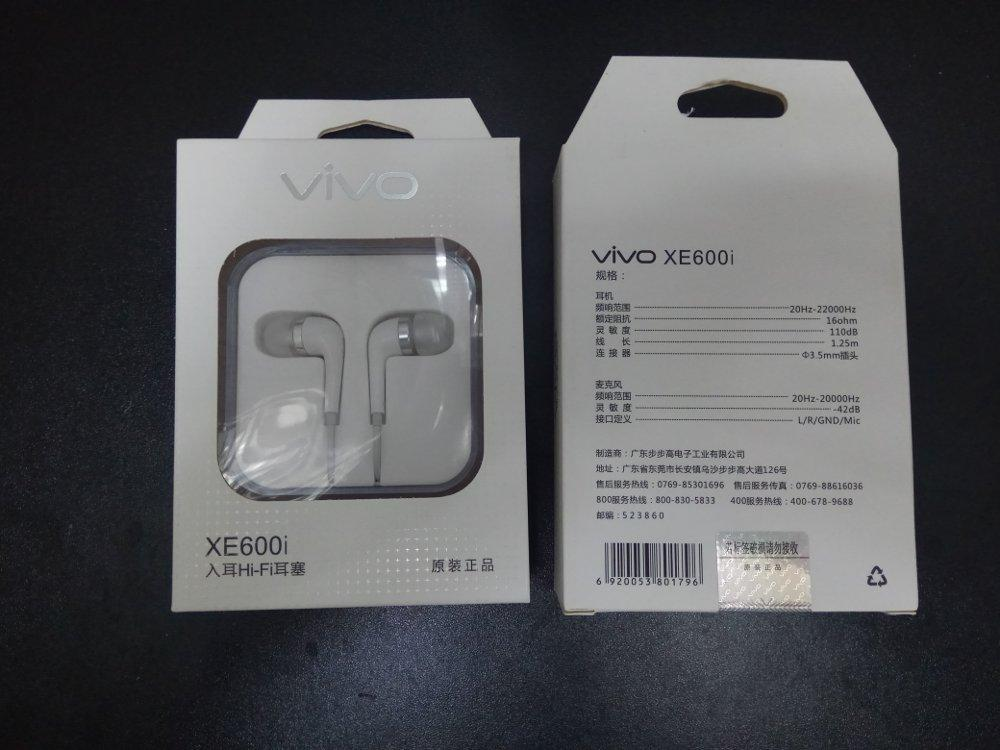 Vivo Handsfree / In Ear EX600i HD Sound HI-FI With Mic Original
