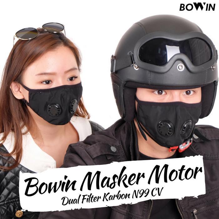Bowin Masker Motor - Dual Filter Karbon N99 CV (Masker