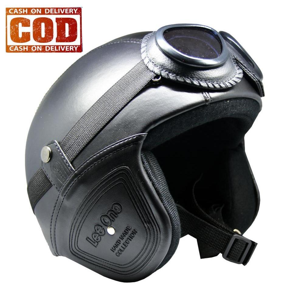 AchmadStore,Helm Retro Kulit Unik Klasik Kaca Mata ( Helm, Retro, Kulit, Clasic, Vespa)