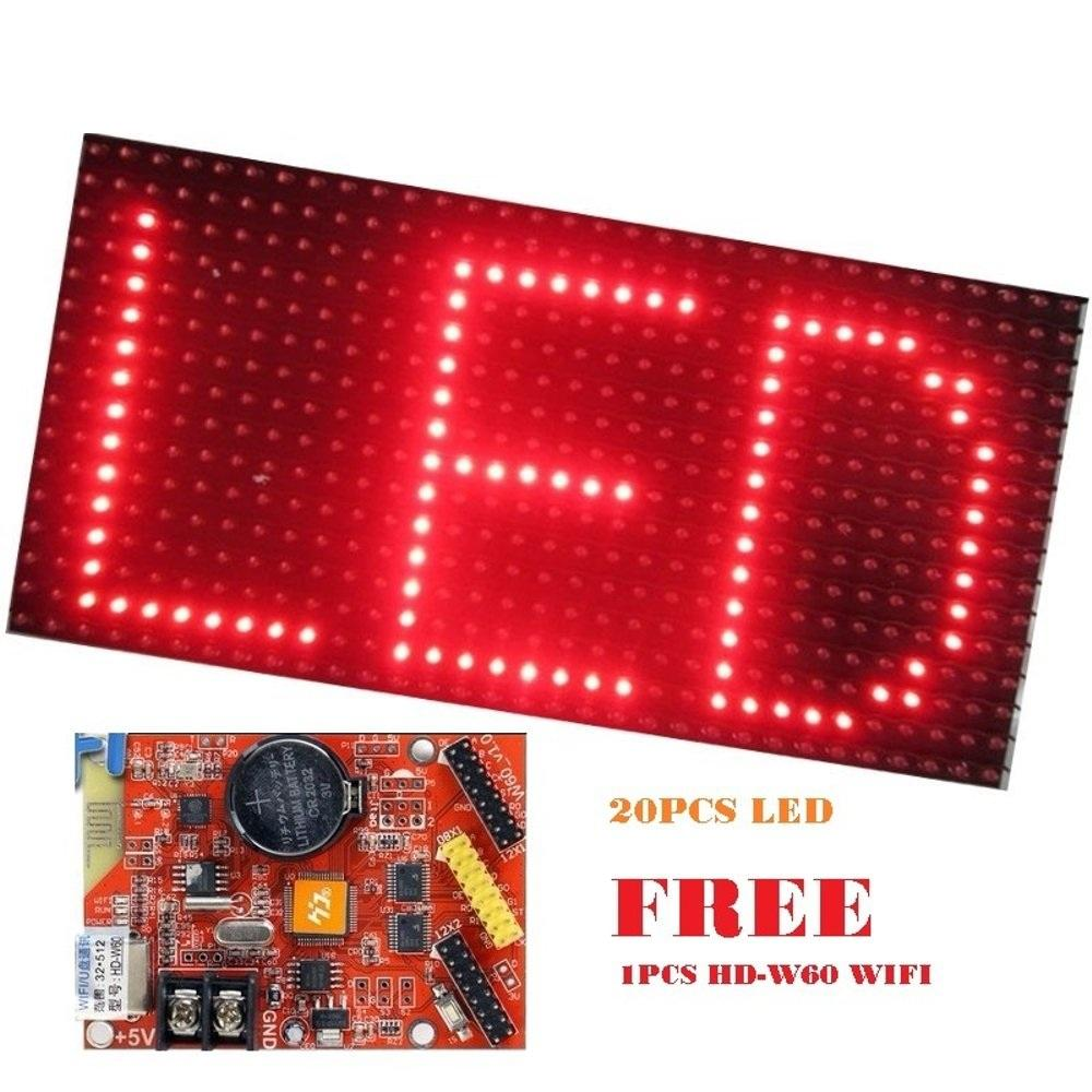 Running Text 20x100cm Wifi Outdoor Merah Dark Frame Daftar Harga Led Runningtext 68x20 Masjid Mesjid Red Color