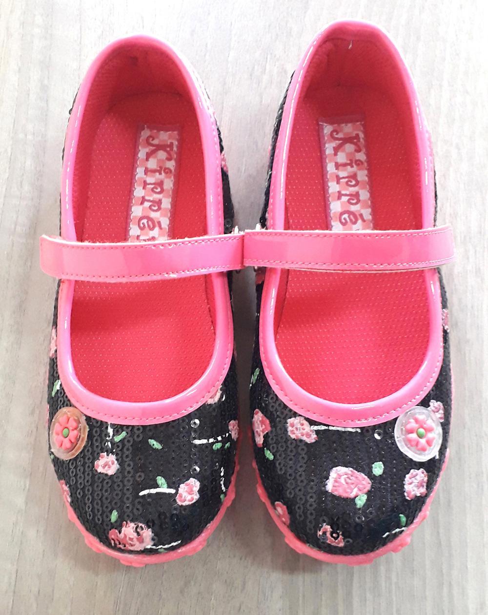 Sepatu anak anak perempuan KIPPER Tipe CLASSIC warna Hitam size 26-35 + Gift Dompet