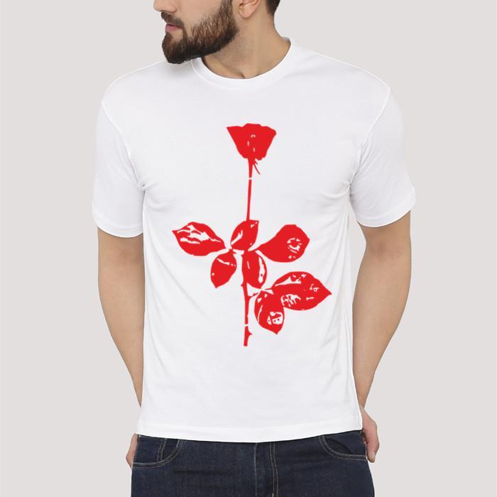Depeche Mode Kaus Tali Lengan Bang Pendek Kaos Udang Shopee LAZADA Satu Barang Juga Dikirim (Putih)
