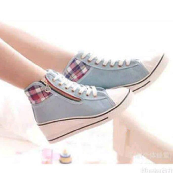 sepatu kets wedges korean wedges sneakers korea kets murah - NStdDZ