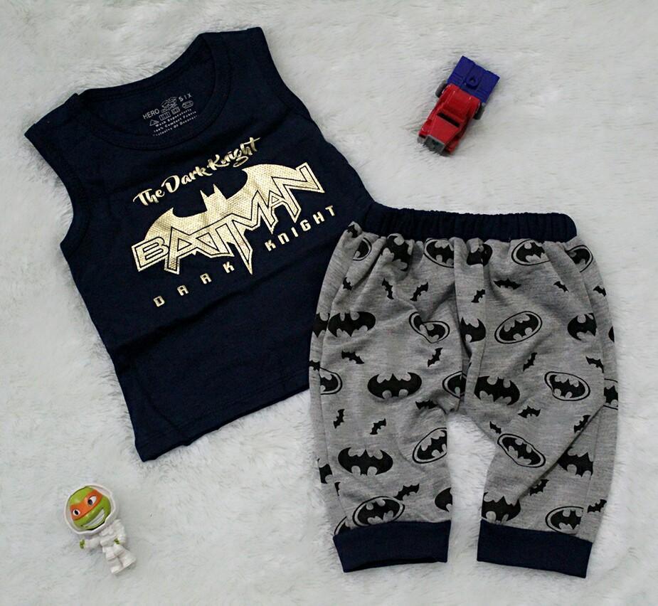 All Size 6-15 Bulan / Setelan Baju Celana Bayi Anak - The Dark Knight