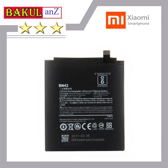 Baterai Batre Handphone Xiaomi Redmi Note 4X BM43 BN43 - Battery HP BM 43 BN 43 Original