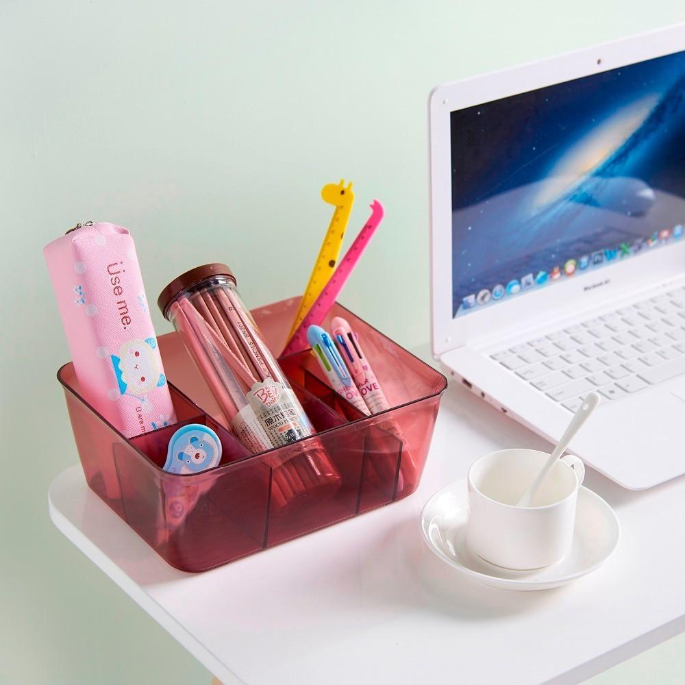 Buy Sell Cheapest Cosmetic Storage Kotak Best Quality Product Desktop Rotate Kuas Make Up Kutek Rak Kosmetik Uchii Transparent Box With Divider Organizer Penyimpanan Sekat
