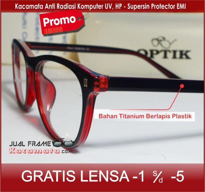 Beli sekarang Kacamata Korea 75075 Lensa ANTI RADIASI + Lensa  minus plus silinder untuk pria dan wanita terbaik murah - Hanya Rp136.650 a92cd5cd9c