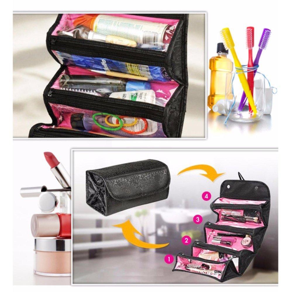 Tas Mak Eup Organizer Terbaik Kosmetik Tempat Makup Beauty Case Box Make Up Banyak Warna Edw 301 Roll N Go Cosmetic Bag Gantung