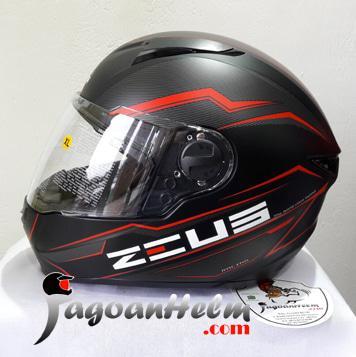 ZEUS Helm ZS811 AL12 | MATT Black RED ZS 811 | ZS-811 Free Smoke VISOR || helm kyt / helm bogo / helm full face / helm ink / helm sepeda /helm motor/helm nhk/helm retro/helm anak/helm gm