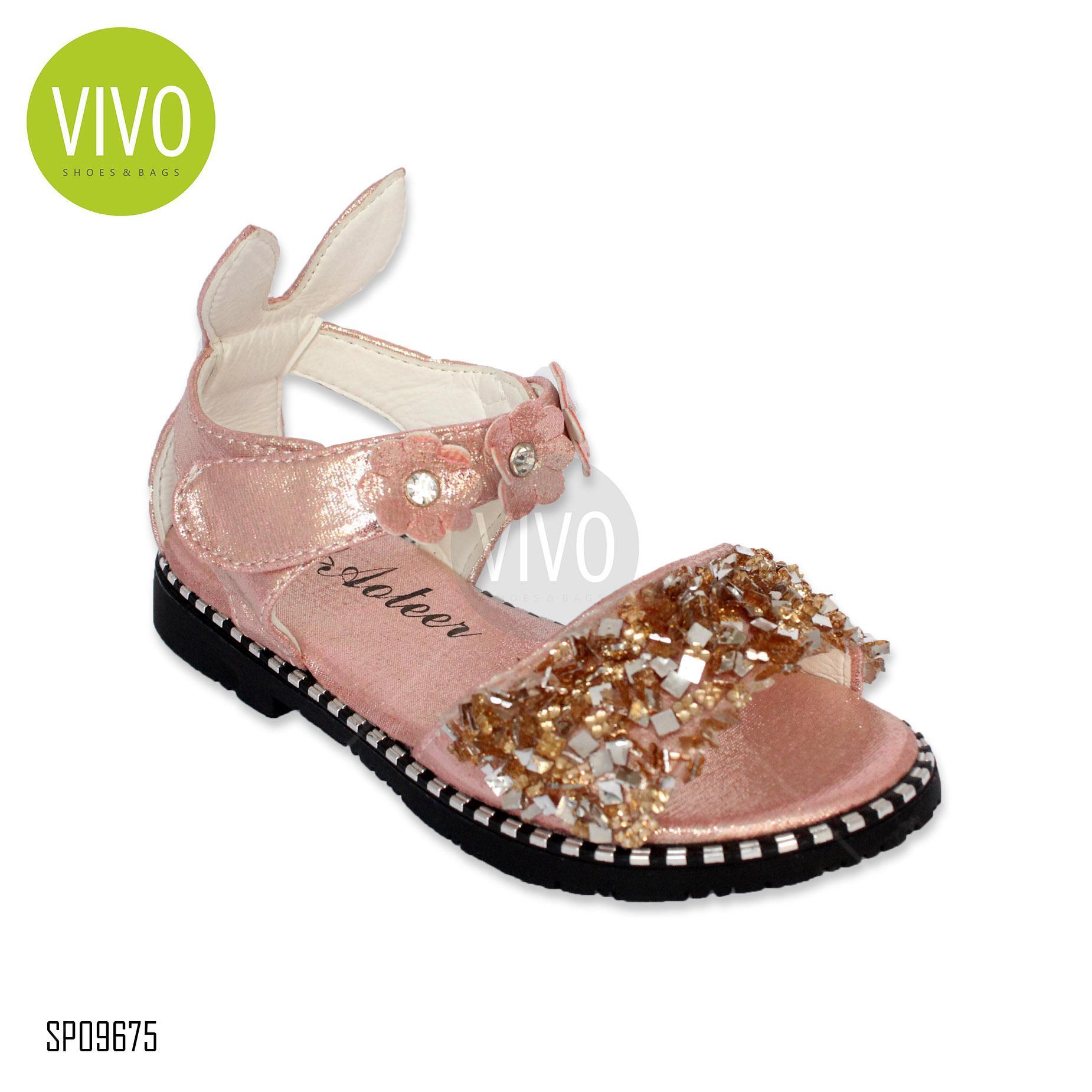 Vivo Fashion Sepatu Sandal Anak Perempuan SP09675 – Peach Size 26/30