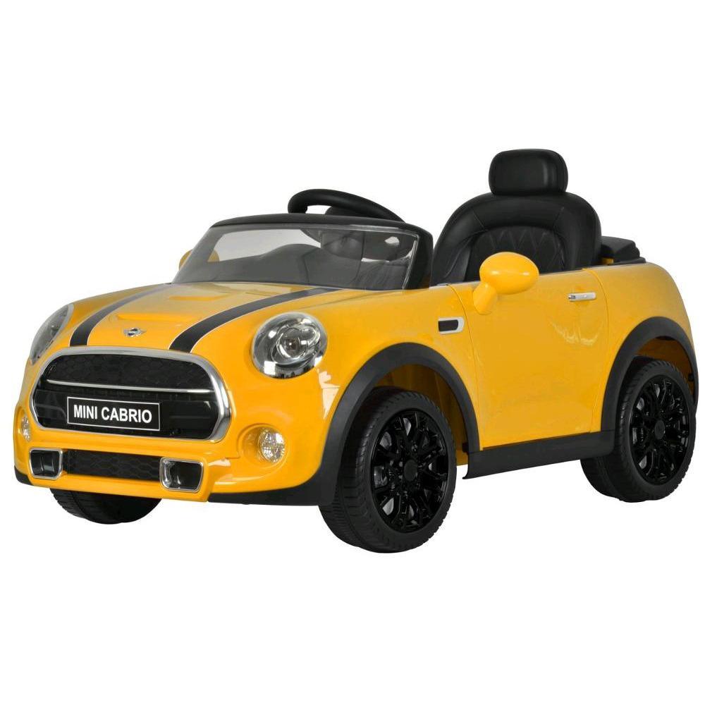 Mainan Anak Mobil Aki Pliko Mini Cooper Cabrio Lisensi Warna Kuning By Jurassic Park_shop.
