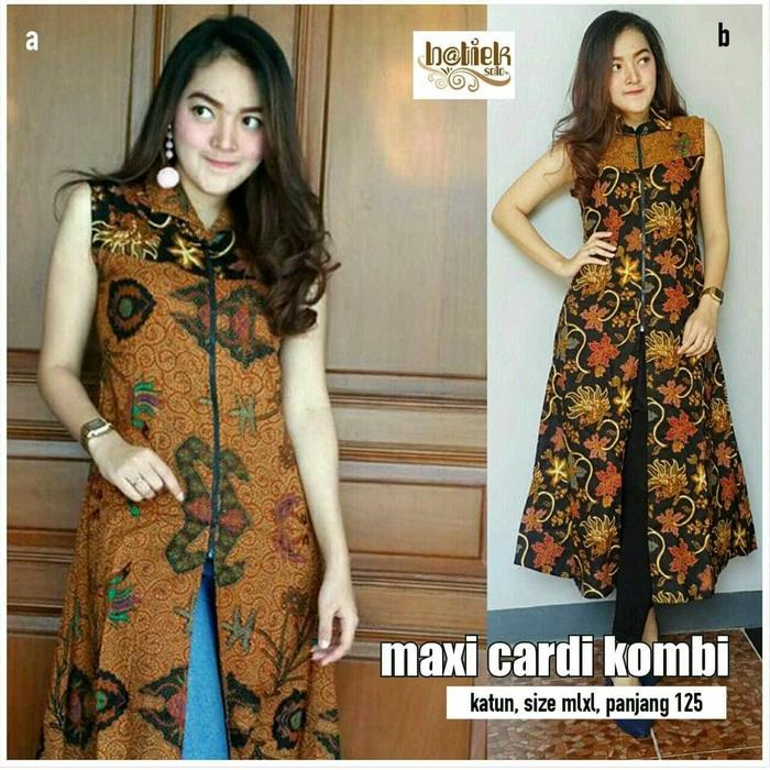Dress Batik Solo. Maxi Cardi Batik Kombi Series