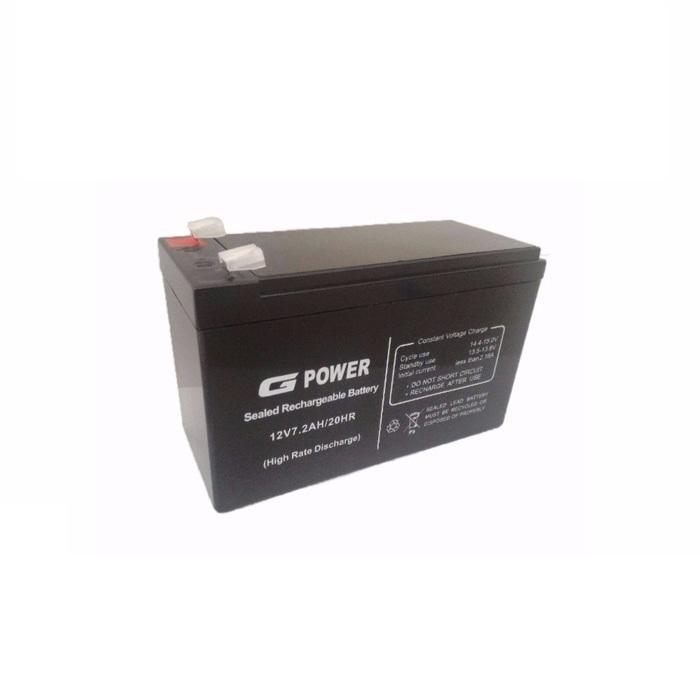 Baterai Gpower 12V - 7.2AH. Batere UPS / Battery UPS / Aki Kering UPS
