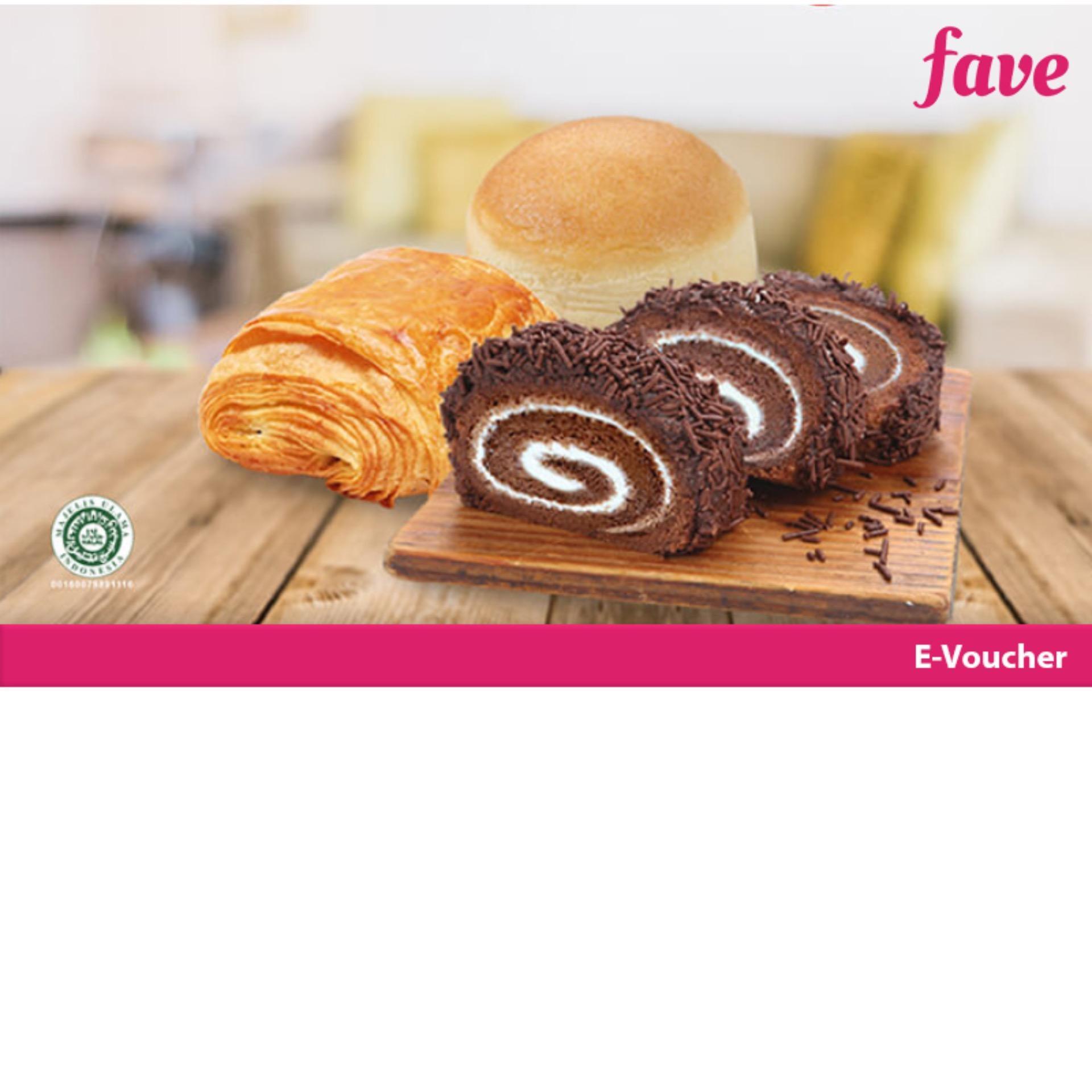 Breadlife Voucher Value Senilai Rp. 100.000 Untuk Roti, Kue Dan Pastry By Fave Indonesia.