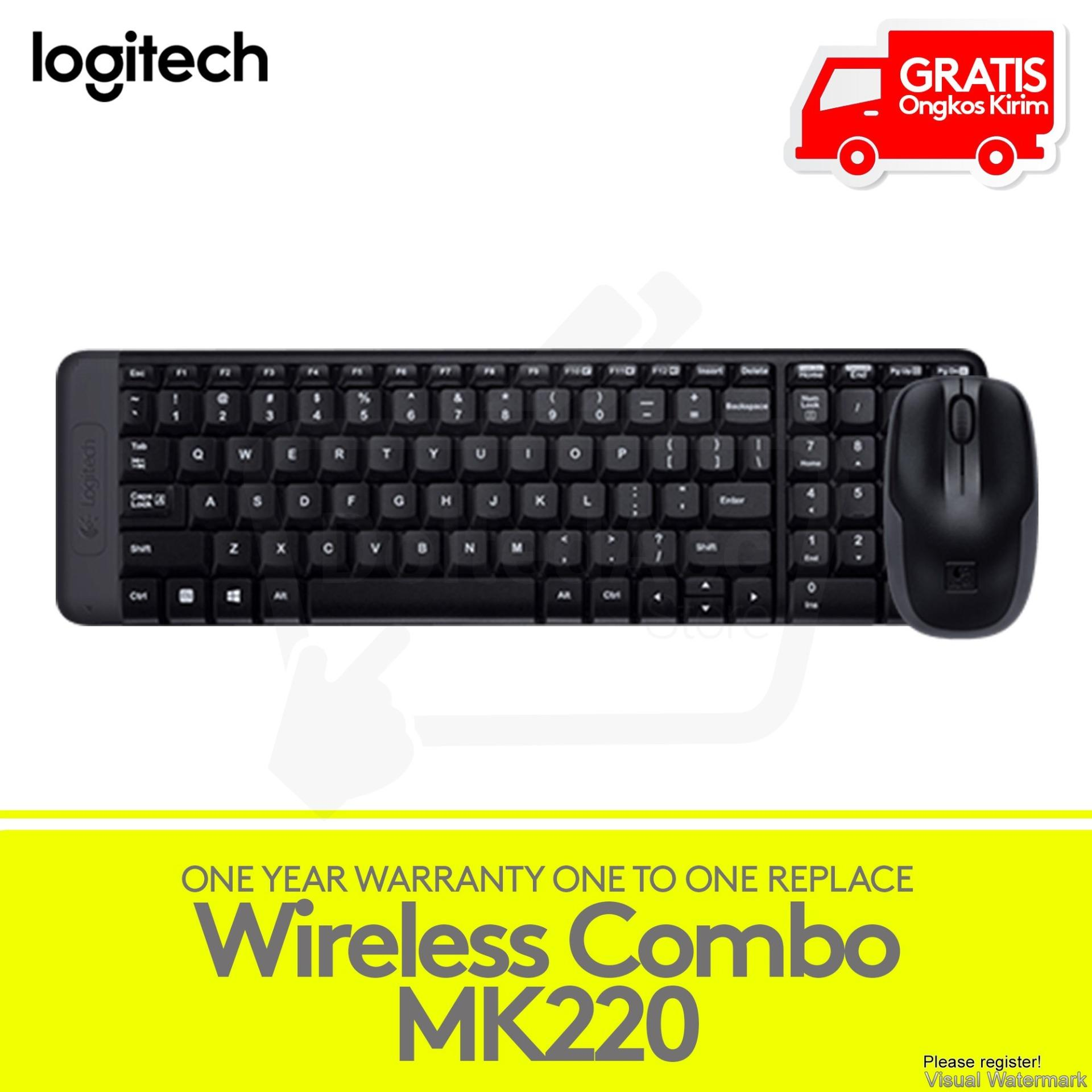 Logitech Wireless Keyboard Mouse Combo MK220 - Hitam