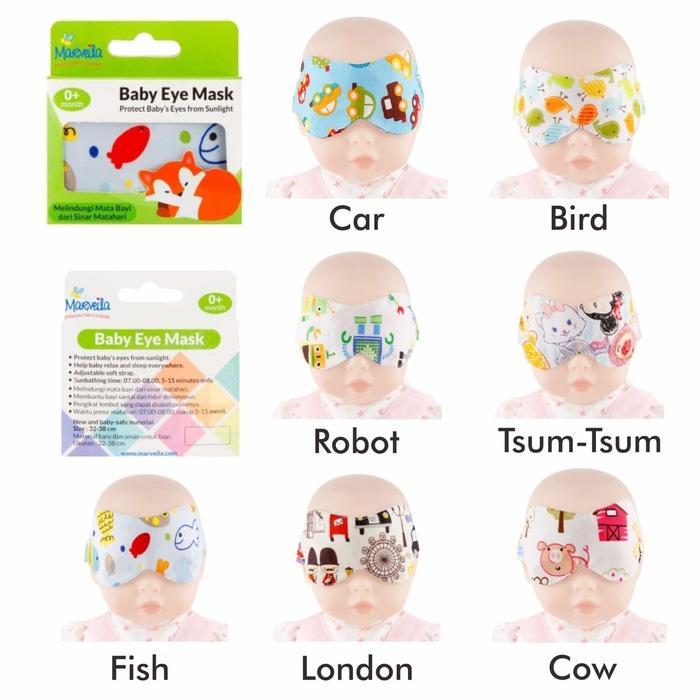 Baby Eyemask Pelindung Mata Bayi Pada Saat Tidur / Dijemur Di Bawah Sinar Matahari - Mix Motif By Baby Talk.