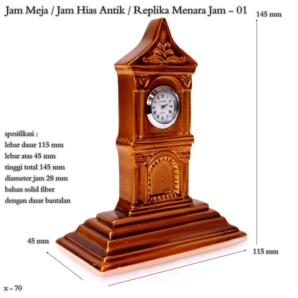 Jam meja / jam hias antik / replika menara jam / jam mini – 01
