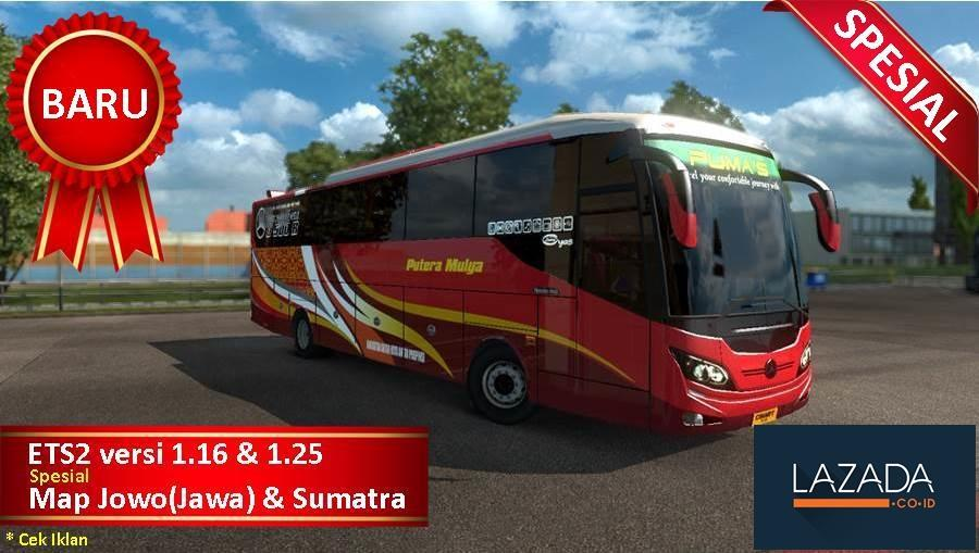 Bus Simulator Indonesia ETS 2 Spesial Map Jawa Sumatra untuk PC Laptop