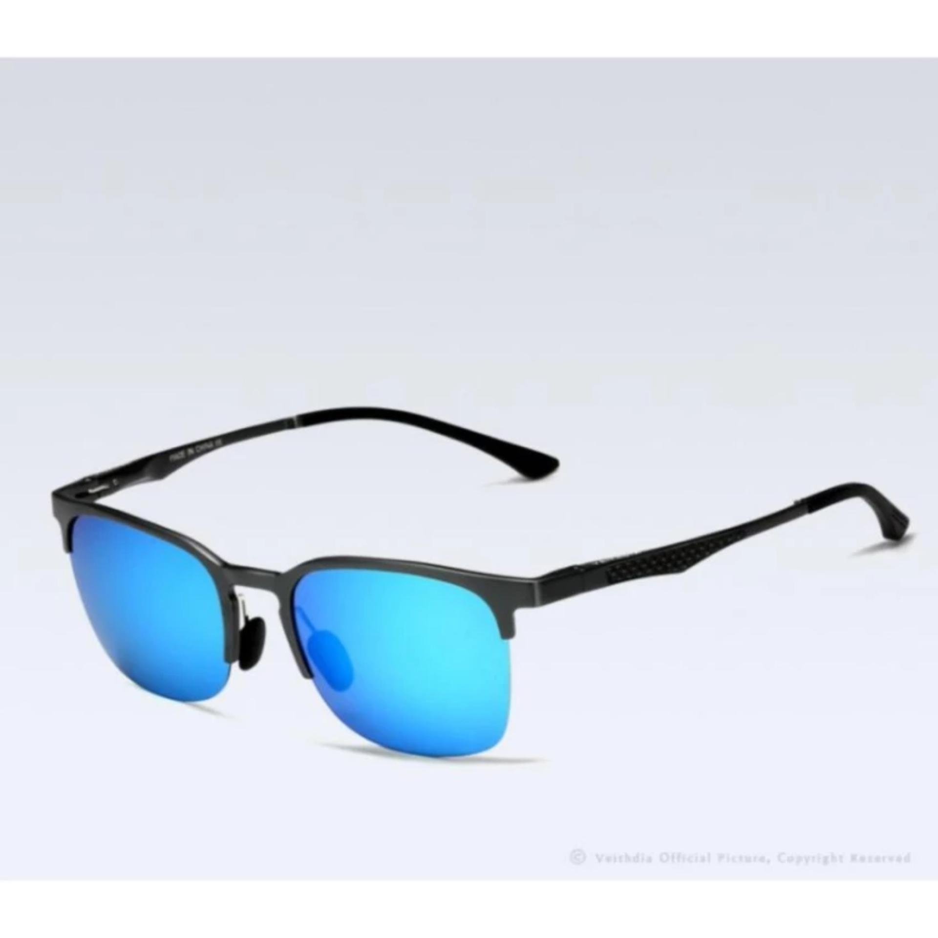 VEITHDIA Terpolarisasi Kacamata Hitam Pria Perak Bingkai Kelabu Lensa  3043IDR90000. Rp 99.900 489f5d8e97
