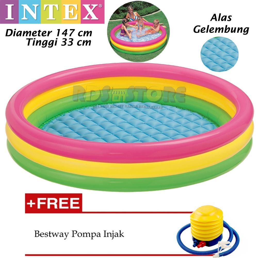 Intex Kolam Renang Anak Kolam Mandi Bola 147 x 33 cm 1d031fedff