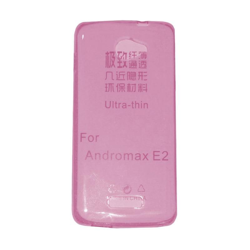 Mr UltraThin Softcase Andromax E2 / Jelly Case Andromax E2 / Casing Andromax E2 / SoftCase Andromax E2 - Pink