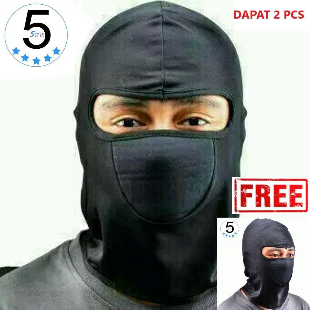 Masker Buff Ninja Anti Debu 5STAR BUY 1 GET 1 / Balaclava Masker Motor Beli 1