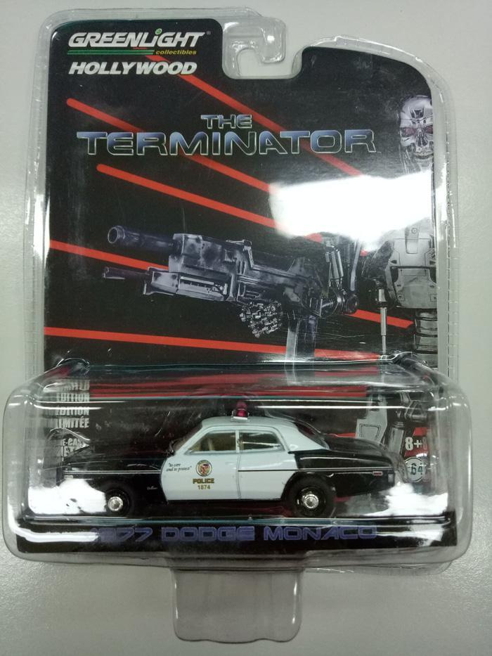 ASLI!!! Greenlight Diecast The Terminator 1977 Dodge Monaco - wq4FaY