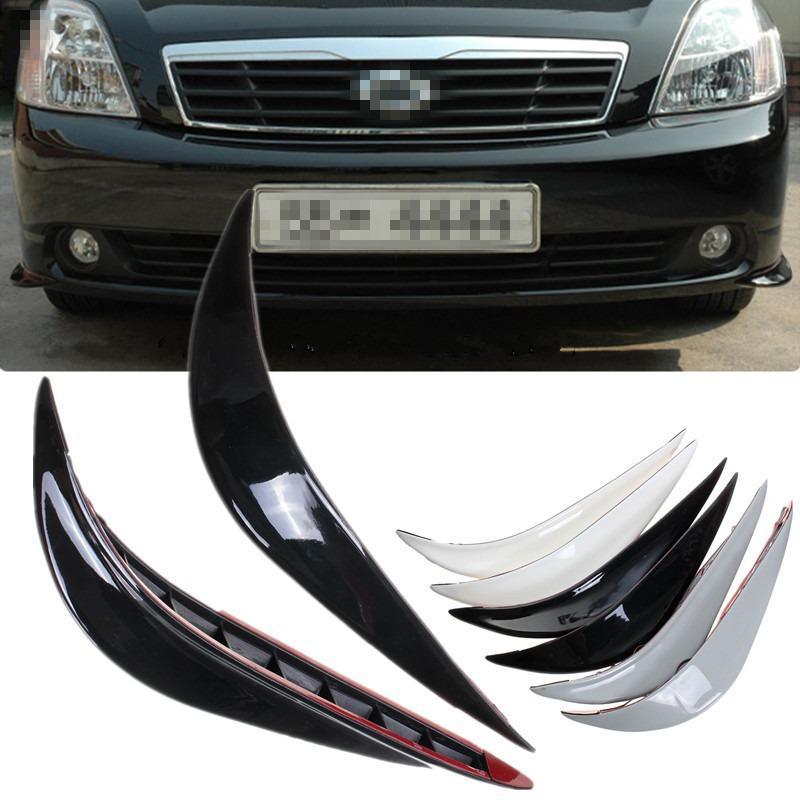 2 pcs universal mobil auto kendaraan depan bumper corner protector bibir guard black