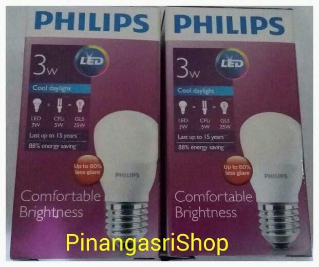 Sedang Diskon!! Lampu Led Philips 3Watt 3W Bukan 4W 5W 6W 7W 9W 10W 11W 13W 14W 18W 20 - ready stock