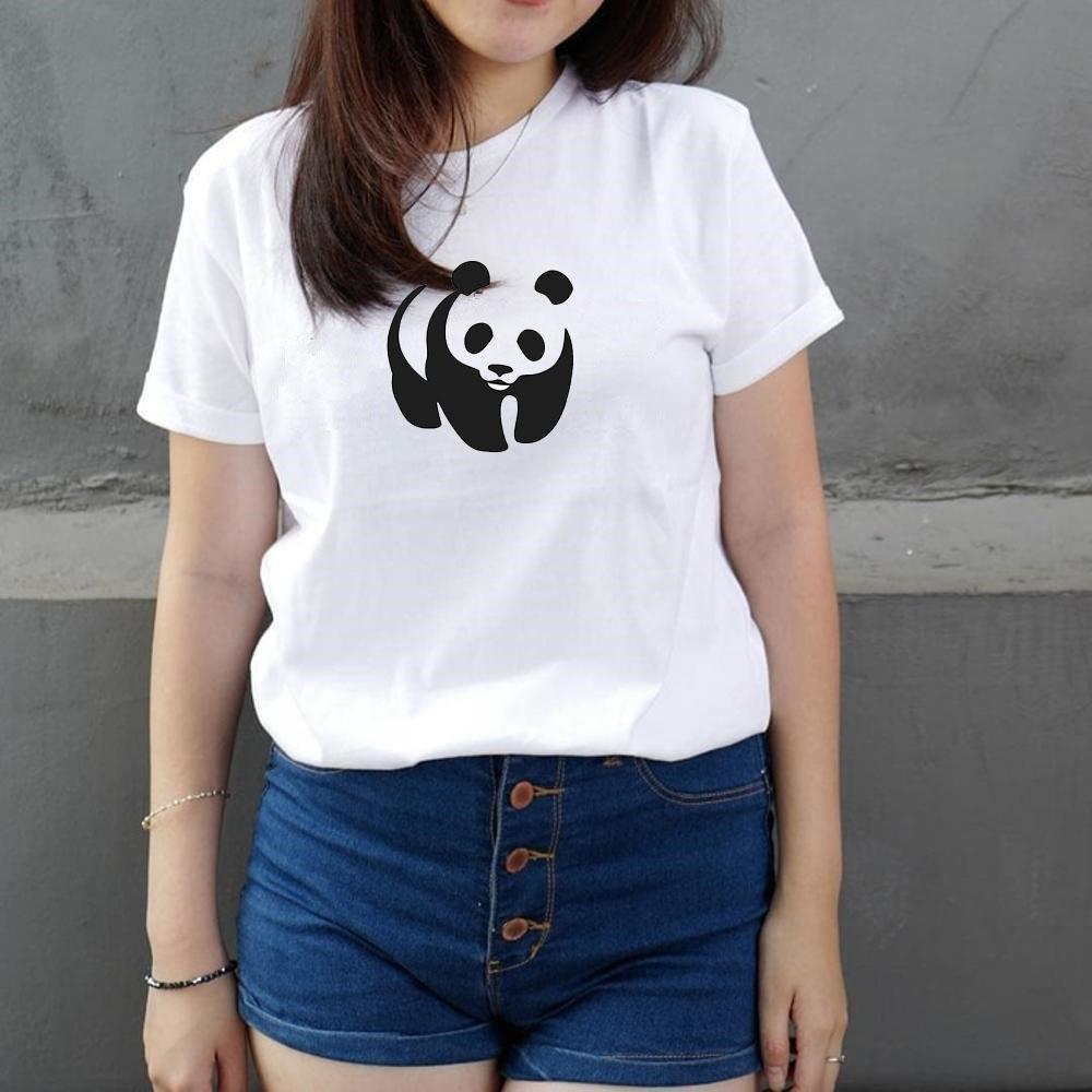 """Kaos Wanita / Kaos Cewe Kaos Murah Lengan pendek Panda - Putih. """""""