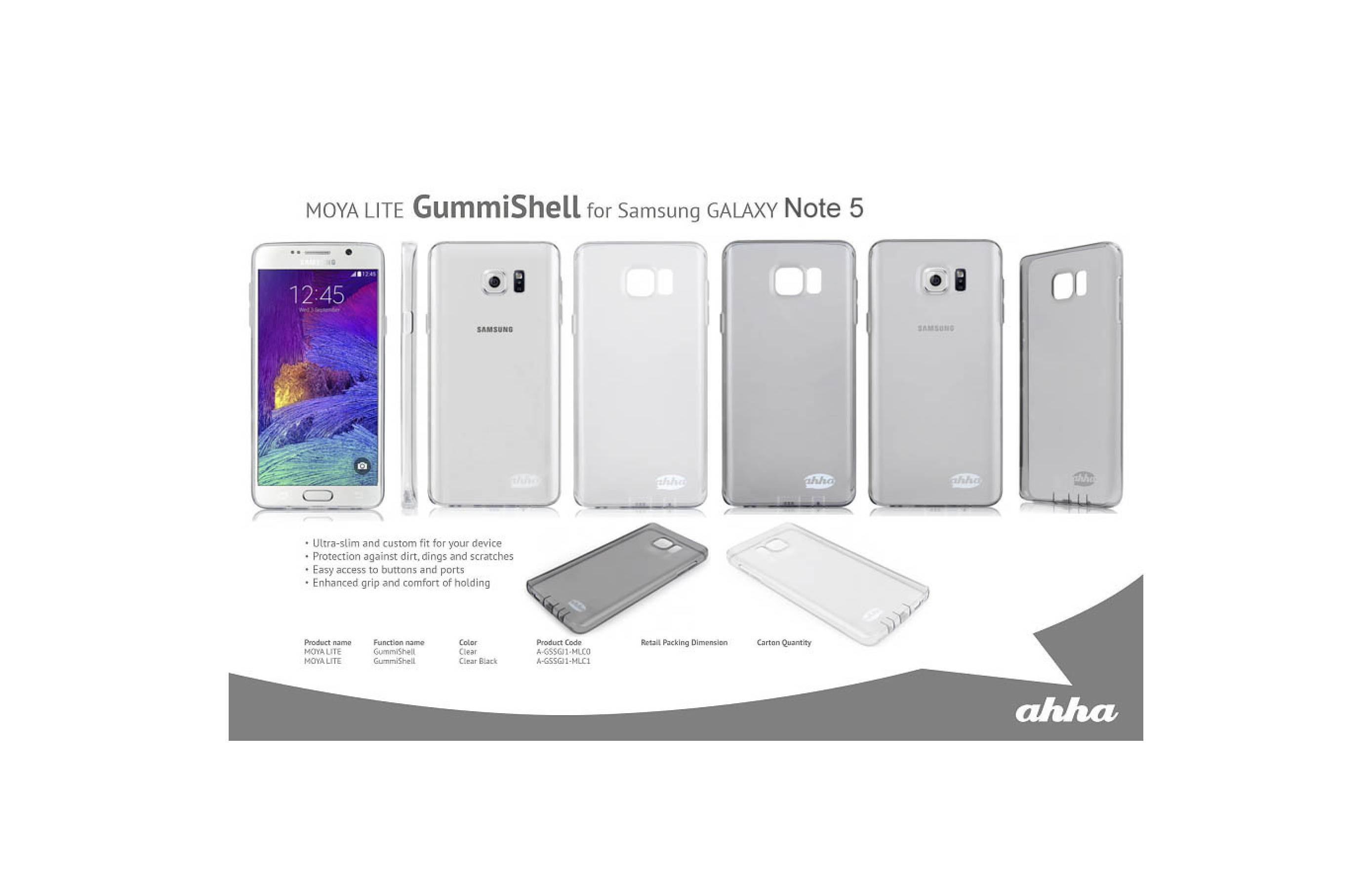 Jual Ahha Moya GummiShell Soft Cover Casing Case Samsung Galaxy Note 5