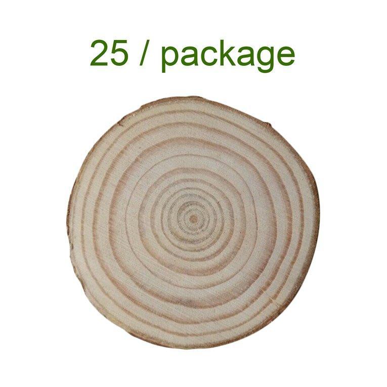Osman 25 Pcs 4-5 Cm Kayu Log Irisan Discs DIY Kerajinan Pernikahan Natal Dekorasi